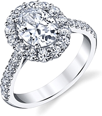 Coast Halo Diamond Engagement Ring