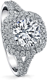 Coast Split Shank Diamond Engagement Ring