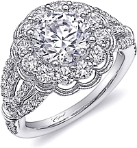 Coast Triple Row Diamond Engagement Ring