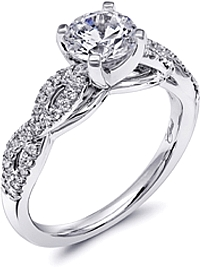 Coast Twist Diamond Engagement Ring