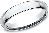 Comfort Fit High Dome Wedding Band-4mm