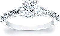 Common-Prong Round Brilliant Diamond Engagement Ring- 1/2ct tw