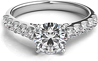Common Prong Round Brilliant Diamond Engagement Ring
