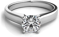 Contoure Diamond Solitaire Engagement Ring