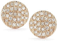 Dana Rebecca 'Lauren Joy' Medium Rose Gold Diamond Earrings