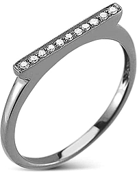 Dana rebecca 'Sylvie Rose' Black Rhodium Diamond Bar Ring