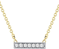 Dana Rebecca 'Sylvie Rose' Mini Diamond Bar Necklace