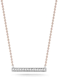 Dana Rebecca 'Syvlie Rose' Medium Diamond Bar Necklace