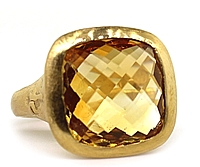 Dominique Cohen 18k Rose Gold Citrine Ring
