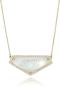 Doves Mother of Pearl & Diamond Necklace
