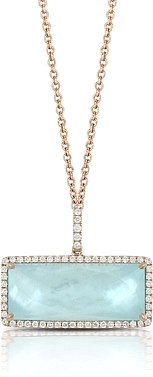 Doves Ocean Mist Diamond Pendant