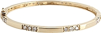 Estate 14k Yellow Gold Diamond Bangle