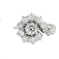 Estate 18k White Gold Diamond Ring