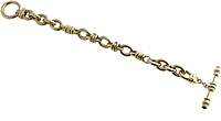Estate Judith Ripka 18k Yellow Gold Toggle Bracelet