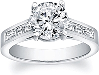 FlyerFit Baguette Channel-Set Diamond Engagement Ring