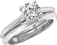 FlyerFit Knife Edge Solitaire Engagement Ring