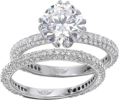 This Image Shows The Setting With A 1 75ct Round Brilliant Cut Center Diamond