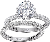 FlyerFit Micro-Pave Platinum Diamond Engagement Ring
