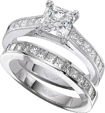 princess cut diamond wedding ring sets flyerfit princess cut channel set engagement ring 6801