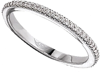 FlyerFit Thin Pave Diamond Eternity Band