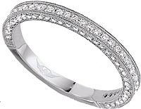 FlyerFit Three Sided Pave Diamond Band