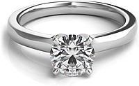 Four Prong Diamond Solitaire Engagement Ring