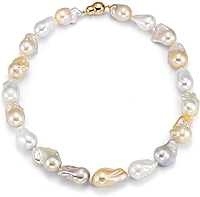 Fresh Water Multi-Color Baroque Pearl Necklace