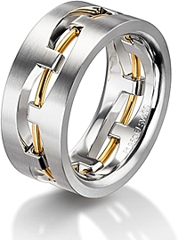 Furrer Jacot ' Sculptures' Men's Wedding Band