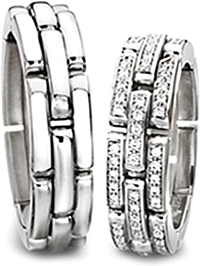 Furrer Jacot 'Sculpture' Flexible Men's Wedding Band