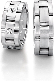 Furrer Jacot Sculptures Link Men S Wedding Band 71 22770 0 0