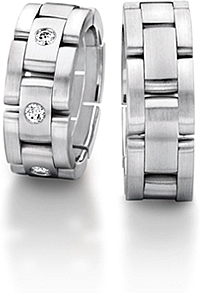 Furrer Jacot 'Sculptures' Link Men's Wedding Band