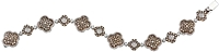 Gregg Ruth 18k White/Yellow Gold Natural White & Chocolate Diamond Bracelet- 6.05ct TW