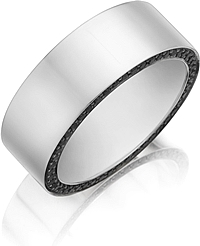 Henri Daussi  Diamond Wedding Band- 8mm