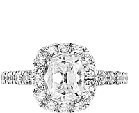 Henri Daussi 1.06ct GIA E/SI1 Cushion Diamond Engagement Ring