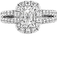 Henri Daussi .71ct Cushion GIA F/SI2 Diamond Engagement Ring