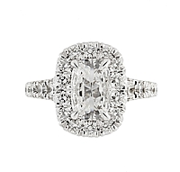 Henri Daussi .93ct GIA J/SI2 Cushion Cut Diamond Engagement Ring