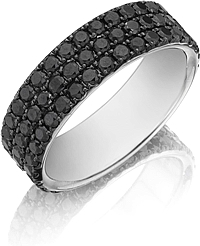 Henri Daussi Black Diamond Band- 7mm