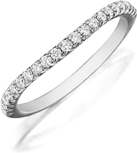 Henri Daussi Contoured Diamond Wedding Band