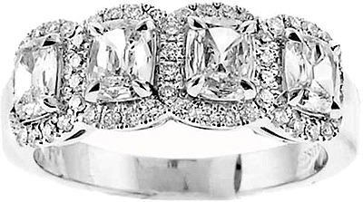 Henri Daussi Cushion Cut Diamond Band 110 3045