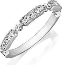 Henri Daussi Pave Diamond Wedding Band
