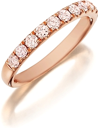 Henri Daussi Pink Diamond Pave Band