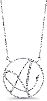 Jeff Cooper Adjustable Diamond 'A' Pendant