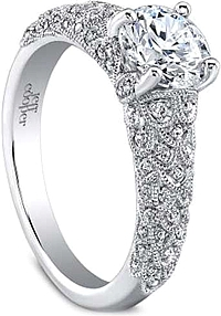 Jeff Cooper 'Arielle' Pave Diamond Engagement Ring