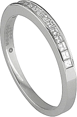 Jeff Cooper Channel Set Asscher Cut Diamond Wedding Band
