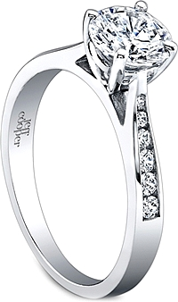 Jeff Cooper Channel Set Diamond Engagement Ring