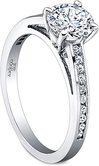 Jeff Cooper Channel Set Milgrain Diamond Engagement Ring