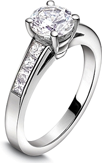 Jeff Cooper Channel-Set Princess Cut Engagement Ring
