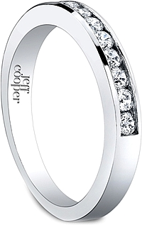 Jeff Cooper Channel Set Round Cut Diamond Wedding Band
