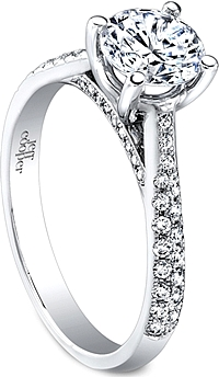 Jeff Cooper Double Row Diamond Engagement ring