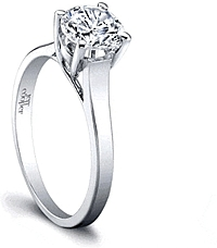 Jeff Cooper 'Elisabeth' Solitaire Engagement Ring